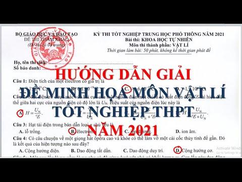 Hướng dẫn giải chi tiết đề minh họa môn Vật lí tốt nghiệp THPT năm 2021 ( Mới nhất)