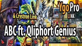 YgoPro - New Qliphort & Crystron link monster (Link Vrains) with AB...