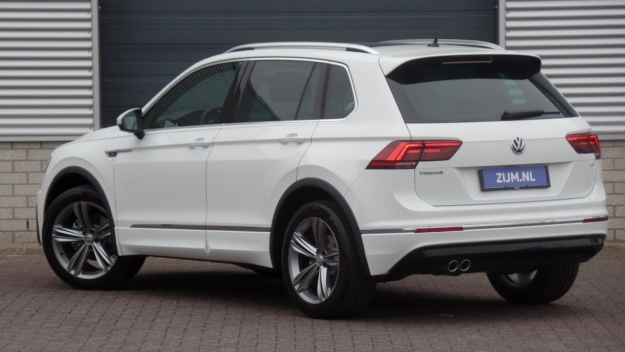 volkswagen new tiguan r line 2018 pure white tsi 19 inch sebring walk around inside detail. Black Bedroom Furniture Sets. Home Design Ideas