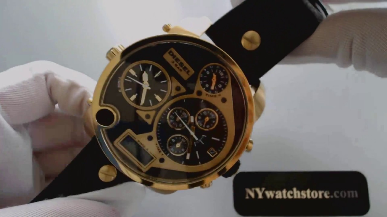 333494c6899f Diesel Mr Daddy XL Chronograph Big 4 Time Zone Watch DZ7323 - YouTube