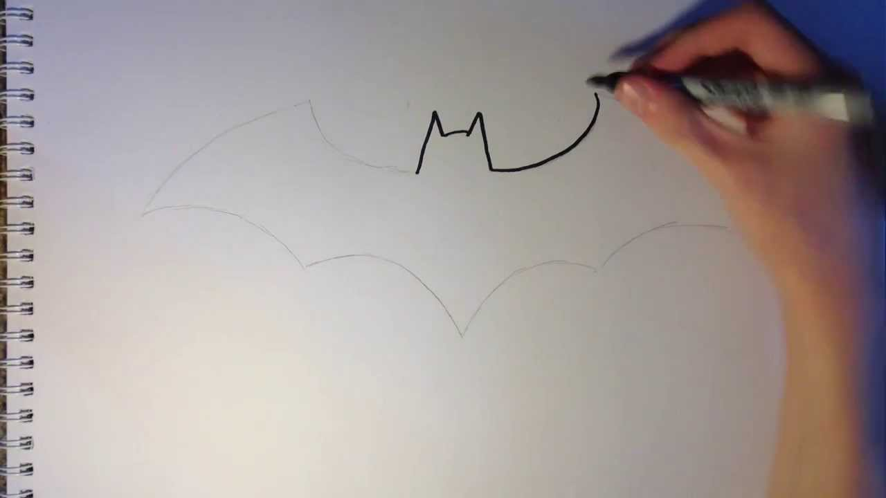 How To Draw Batmans Logo Youtube