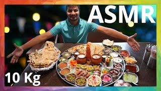 Amazing indian food asmr eating one of the biggest vegetarian serving in world. if you like popular for videos then must watch this.address...