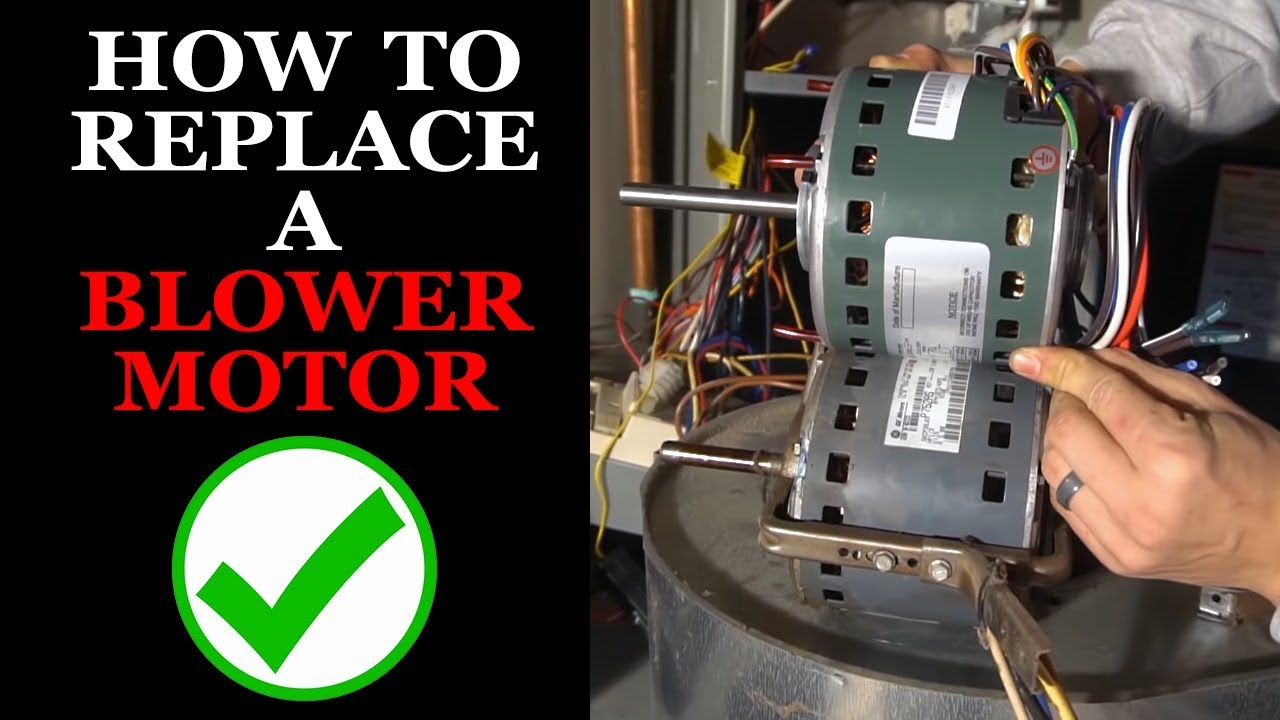Forced Air Wiring Diagram Furnace Ac Blower Motor Replacement Youtube