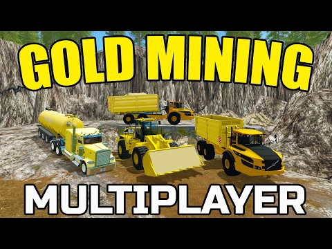 FARMING SIMULATOR 2017 | GOLD MINING | WASH PLANT IS RUNNING! | VOLVO
