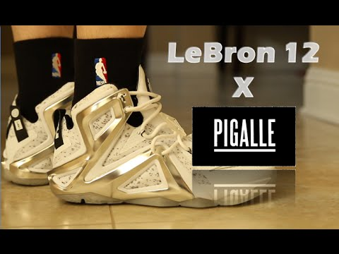 a9a39659ad5 LeBron 12 x Pigalle Review On Feet - YouTube