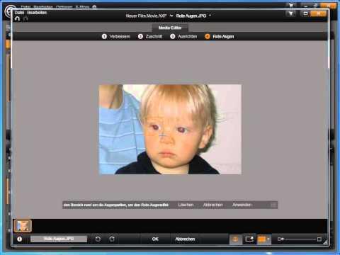 Rote Augen entfernen in Avid studio und Pinnacle Studio