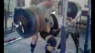 Падение штанги во время страховки Powerlifting