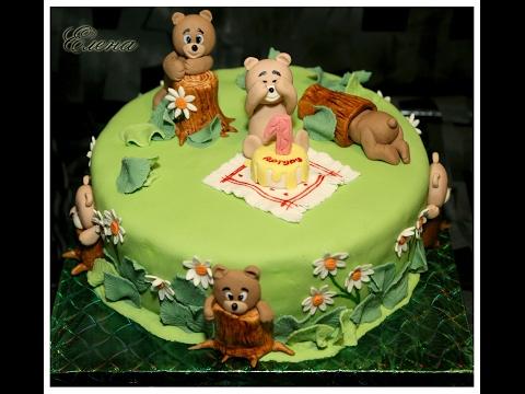 Торт на годик ребенку. Часть 2. Еще15 идей оформления торта в одном видео