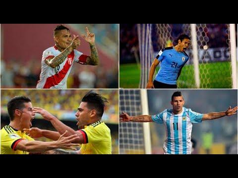 Los mejores '9' de Sudamérica que irán al Mundial Rusia 2018