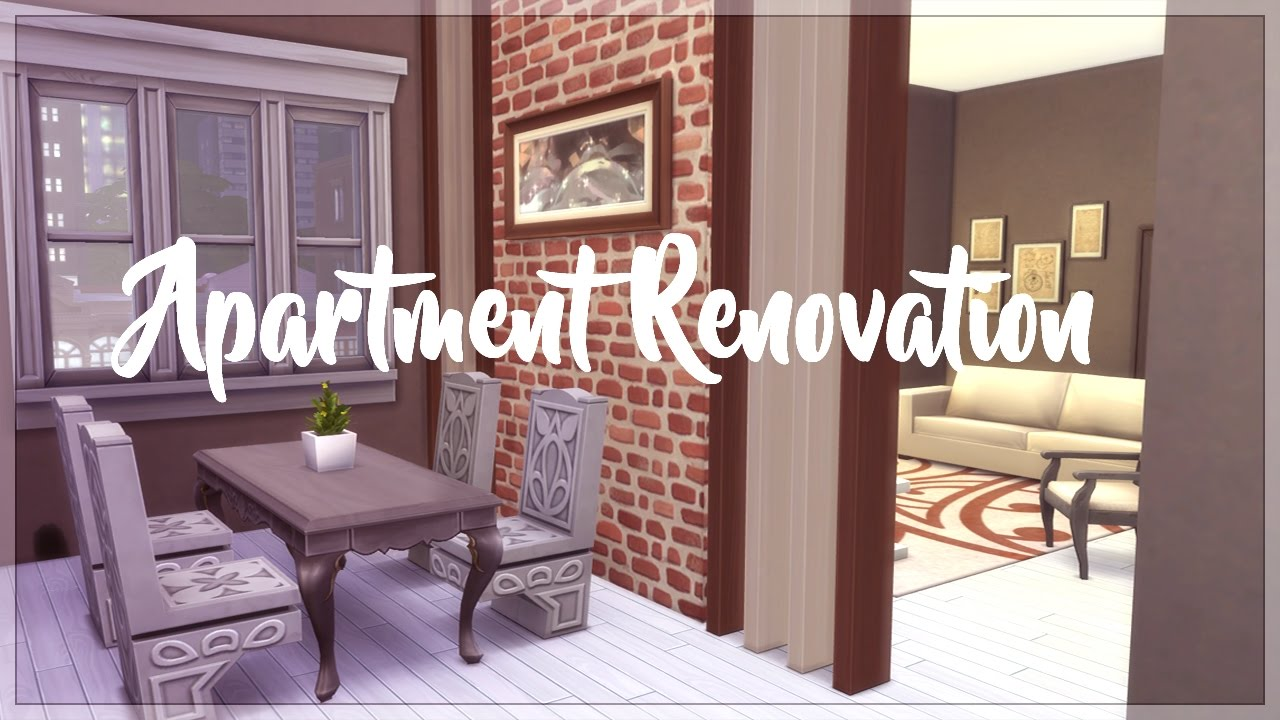 The Sims 4 City Living | Family Apartment Renovation   YouTube