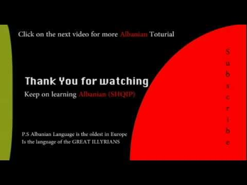 The Albanian Alphabet - Albaniantutorial