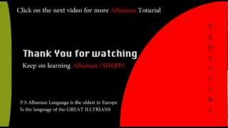 The Albanian Alphabet - Albaniantutorial