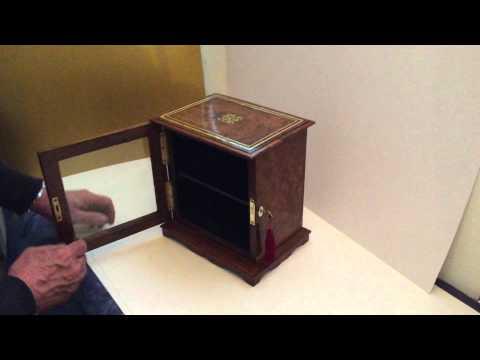 Victorian Burr Walnut Collectors Cabinet