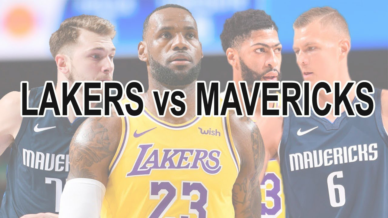 Los Angeles Lakers Vs Dallas Mavericks 1st November 2019