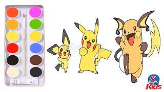 Bé Tập Vẽ & Tô Màu Pokemon cùng S-Kids VN phần 8