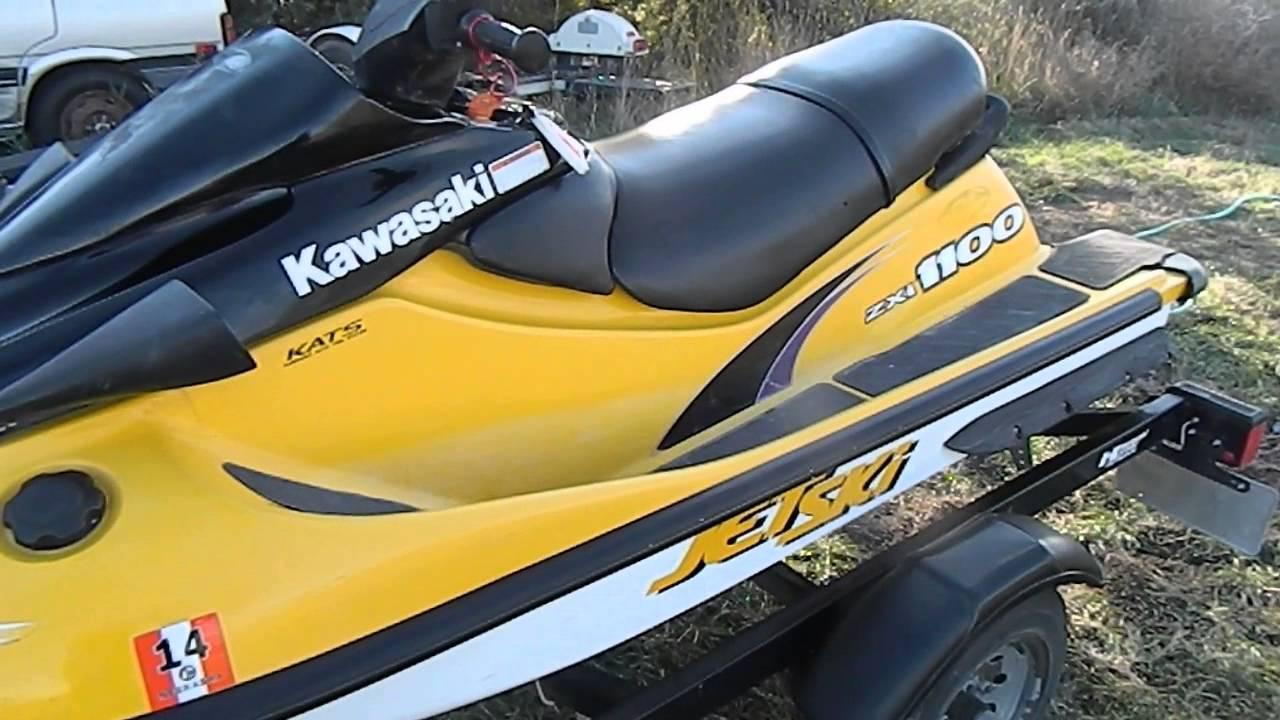 kawasaki 1100 jet ski running 2015 - YouTube