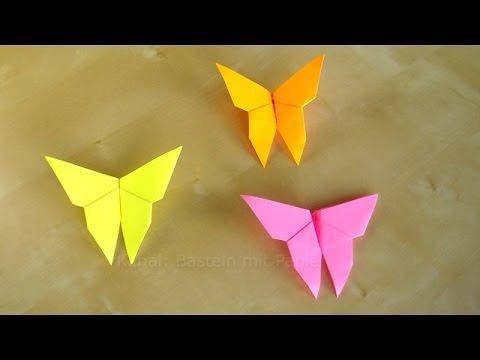 Basteln: Schmetterlinge falten - einfaches DIY Origami Geschenk basteln - Ideen