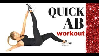 QUICK AB WORKOUT - HOME EXERCISE ROUTINE