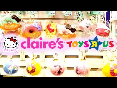 SANRIO HELLO KITTY SQUISHIES AT CLAIRES AND TOYS R US PLUS NEWLY DESIGNED SQUISHY SQUEEZE TOYS VLOG