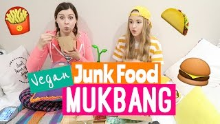 VEGAN JUNK FOOD MUKBANG | Girl Talk with Shaylor