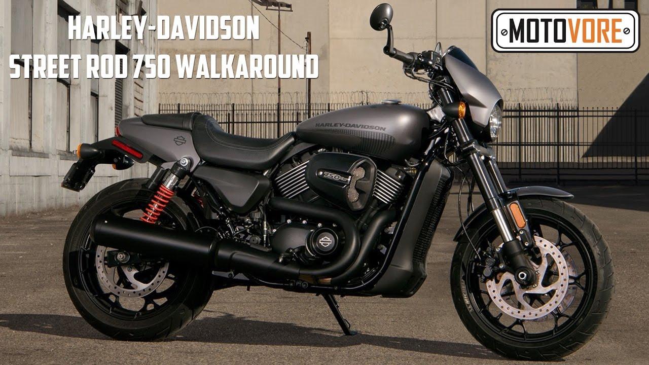harley-davidson street rod 750 vs street 750 walkaround - youtube