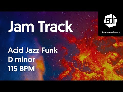 Acid Jazz Funk Jam Track in D minor 115 BPM