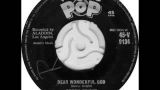 SONNY KNIGHT - Dear Wonderful God - VOGUE V9134 - 1959 UK of 1953 Aladdin R&B Gospel Resimi