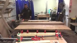 Live edge glue up