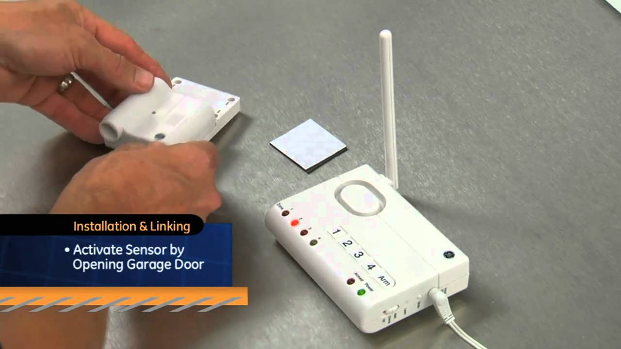 Ge Choice Alert Garage Door Sensor 45130 Youtube