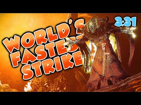 WORLD'S FASTEST STRIKE! [3:31] Strange Terrain (Destiny 2 Warmind DLC)
