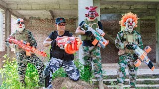 NERF WAR : Special Task SWAT Warriors Nerf Guns Fight Criminal Group Mask Bandis Dola