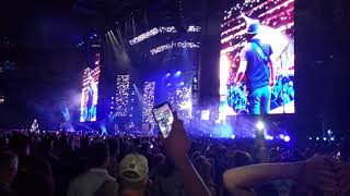 Zac Brown Band performing Colder Weather Live at Target Field in Minneapolis on August 10, 2018