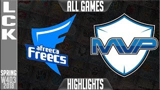 Video AFS vs MVP Highlights ALL GAMES | LCK Week 4 Spring 2018 W4D3 | Afreeca Freecs vs MVP Highlights download MP3, 3GP, MP4, WEBM, AVI, FLV Juni 2018