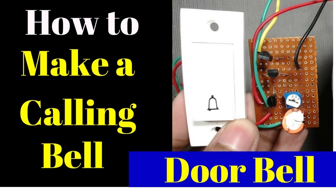 How To Make A Calling Bell At Home Plug And Play Homemade Doorbell Simple Ic 555 Door Circuit Diagram Image