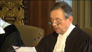ICJ Delivers Judgment in Hissène Habré Case (Belgium v. Senegal) - Reading by Registrar