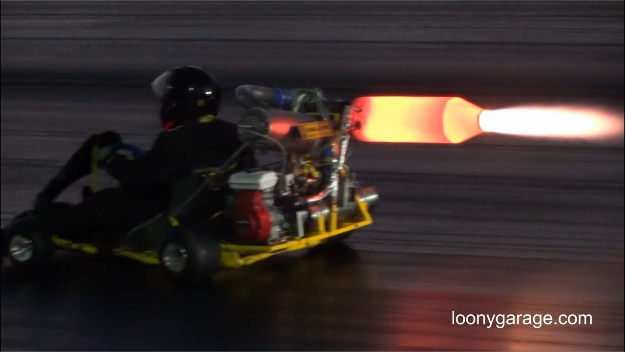 Jet Engine Go Kart With Afterburner Youtube