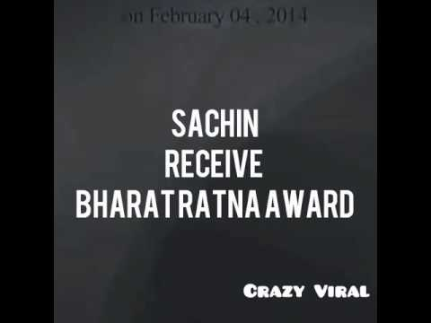 Sachin Tendulkar received Bharat Ratna Award 2016 full HD video