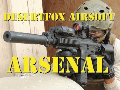 DesertFox Airsoft Arsenal: Assault Rifles Elite Force 4CRL and 4CRS