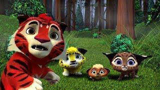 Лео и Тиг сборник серий с 4 по 6 | Мультфильмы про животных для детей