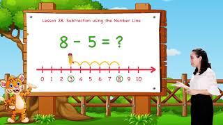 Math For Kids   Lesson 28. Subtraction Using the Number Line   Kindergarten   Grade K
