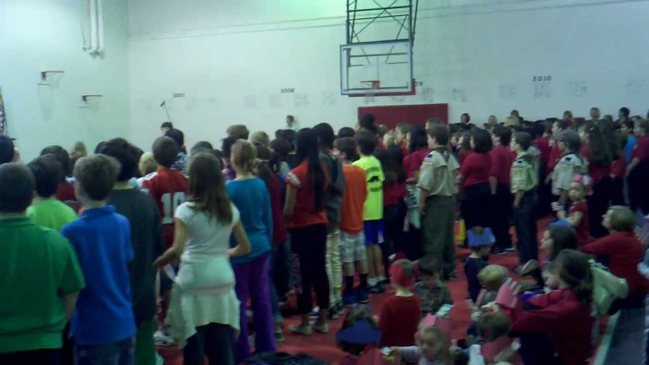 2012-11-12 Veterans Day Ceremony at Oak Grove Elementary, part 2 of 3