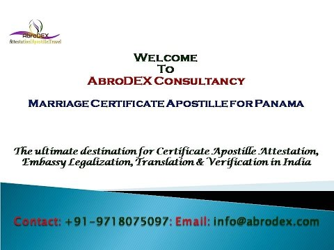 Marriage Certificate Apostille for Panama