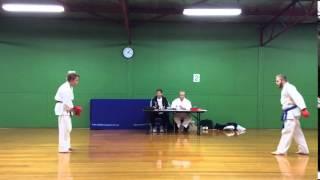 Torakan Karate Black Belt Grading - Will Shearer - sparing 3