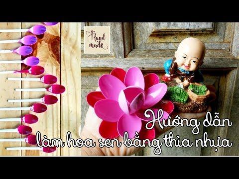 Repeat Diy Lotus Flower By Plastic Spoon Easy Simple Tự Làm Hoa
