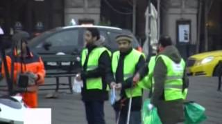 News Report: Denmark Ahmadiyya Muslim Youth New Year 2014 with Prayers and City Cleanup