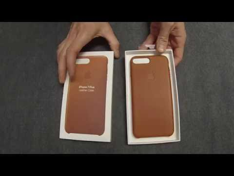 eca6a9e1268d5 Смотреть видео iPhone 7 Plus - Apple Leather Case - Saddle Brown Unboxing  онлайн