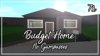 $7k Budget Home - No Gampasses || ROBLOX: Welcome to Bloxburg