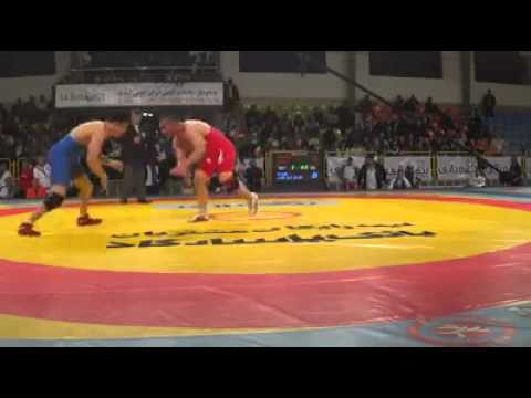 Afghan wrestling Ahmad Ahmadi vs China world championship Iran