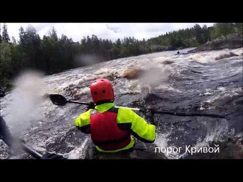 Сплав по реке Чирка-Кемь (Карелия) 2015 - Рубилово в порогах