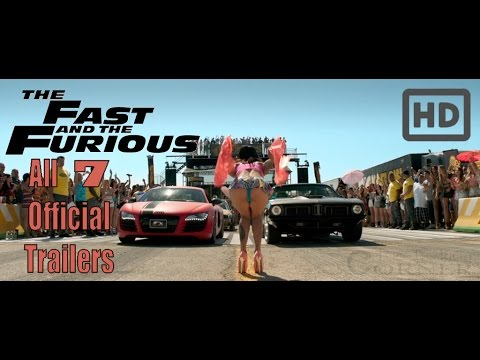 Fast And Furious 3 Full Movie >> Fast & Furious: All Official Trailers HD! (1,2,3,4,5,6,7 ...